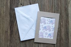 Watercolour greeting card botanical botanical by annmarireigstad