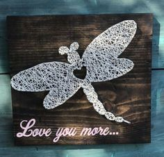 """Set of 10 Envelopes KITTY/'S NOTE CARDS /""""Dragonfly String Art/"""""""