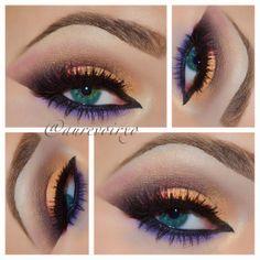 Colorful dramatic makeup @ aurevoirxo