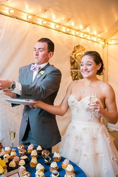 Careful, Casey! | Photo credit: Dana Cubbage Weddings, wedding cupcakes: Cupcake DownSouth #weddingcupcakes