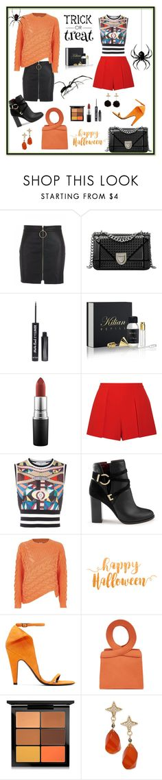 """""""My outfit !!"""" by nashalymoe ❤ liked on Polyvore featuring Kilian, MAC Cosmetics, Alice + Olivia, Givenchy, Miss Selfridge, River Island, Calvin Klein 205W39NYC and Paul & Pitü Naturally"""