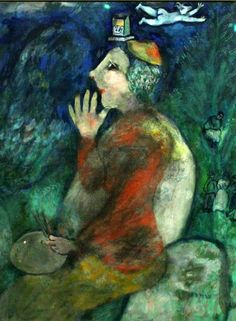 I, Marc Chagall. Self-Portrait with Tefillin - Velda Patton Marc Chagall, Famous Artists For Kids, Chagall Paintings, Chaim Soutine, Atelier D Art, Art Lessons For Kids, Jewish Art, Pablo Picasso, Museum Of Fine Arts