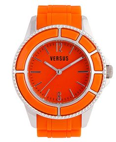 Spring Trends: The bright stuff VERSUS by VERSACE #watch #orange #mens BUY NOW!