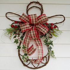 Christmas Grapevine Angel Christmas Angel Wreath Angel Swag