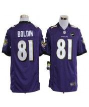 Nike Baltimore Ravens #81 Anquan Boldin Purple Team Color With Art Patch Men's Stitched NFL Game Jersey