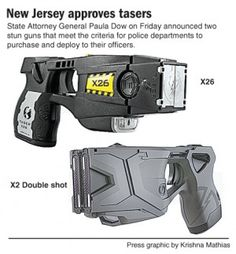 TASER X2 and TASER X26 electronic control devices approved by New Jersey for law enforcement use