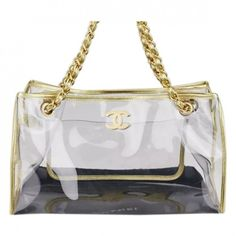 34a531c4691273 VINYL CLEAR BEACH TOTE COLD CHAIN CHANEL ($2,050) ❤ liked on Polyvore  featuring bags, handbags, tote bags, purses, handbags totes, clear vinyl  tote, man ...
