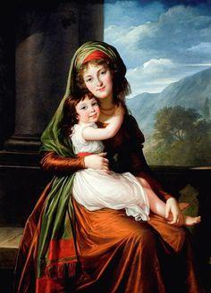 Vigée Le Brun, Comtesse Ursula Margaretha Agatha Victoria von Schönfeldand and her daughter,  1793