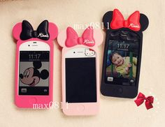 3D Cute Disney Minnie Mouse Ear Case Cover for i Phone 4 4S G | eBay
