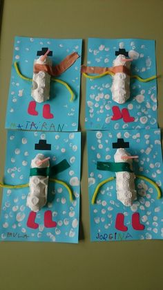 Ninot de neu fet amb oueres. P4