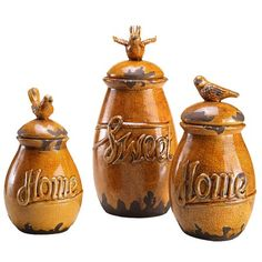 I pinned this 3 Piece Lamonte Jar Set from the Cozy Delights event at Joss and Main!