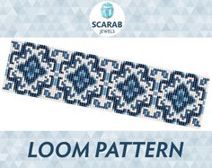 Hey, I found this really awesome Etsy listing at https://www.etsy.com/listing/225474697/blue-porcelain-pattern-loom-bead