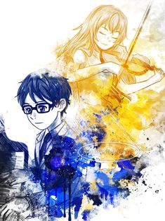 Arima Kousei and Miyazono Kaori - Your lie in April / Shigatsu wa Kimi no Uso Your Lie In April, I Love Anime, Me Me Me Anime, Manga Anime, Anime Play, Hikaru Nara, Miyazono Kaori, A Silent Voice, Animes Wallpapers