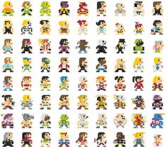 08-696 personajes clásicos geeks versión 8-Bits.