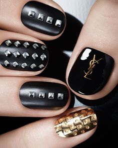 YSL Pretty Metal Fall 2015 Collection #nails