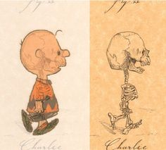 Anatomical drawings of cartoon CHARACTERs ~ by Michael Paulus  _____________________________ Reposted by Dr. Veronica Lee, DNP (Depew/Buffalo, NY, US)
