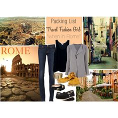What to Wear in Rome: Italy Packing List by travelfashiongirl, via Polyvore