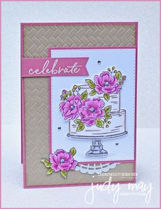 CASE-ing the Catty – Sale-a-bration Week 1 - Cupcakee Ideen Birthday Cake Card, Homemade Birthday Cards, Happy Birthday Cakes, Homemade Cards, Birthday Wishes, Card Making Inspiration, Making Ideas, Stamping Up Cards, Flower Cards