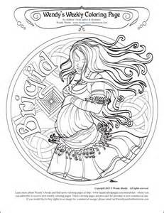 candlemas coloring pages | Blessings of Brigid on Pinterest | Celtic Goddess, Triple ...