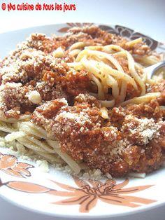 Ma cuisine de tous les jours: Sauce à spaghetti Mamma Mia