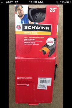 """New - Schwinn 26"""" Road Tire (Item #3) in DailyDeals' Garage Sale in Alta Loma , CA for $5. New - Schwinn 26"""" Road TireItem is new in opened/damaged package.Hi, thanks for looking at my online yard sale items. Email me a list of the item numbers you wish to purchase and/or any questions you have. *Please be sure to check out my other listings as well for more great, bargains on the things you need!You will receive a response within 12-24 hours upon receipt of your re ..."""