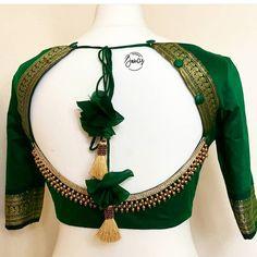 Blouse Back Neck Designs, Choli Blouse Design, Wedding Saree Blouse Designs, Simple Blouse Designs, Stylish Blouse Design, Fancy Blouse Designs, Sari Design, Sarees, Lehenga