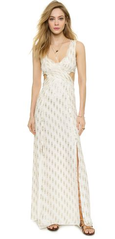 Free People Cross My Heart Jacquard Maxi Dress. I'm always on the hunt for the perfect maxi. This is it!