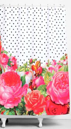 Love This Bright Floral Shower Curtain