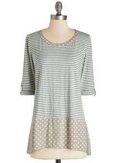 Me and Unique Top in Light | Mod Retro Vintage Short Sleeve Shirts | ModCloth.com