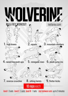 Wolverine Workout | site has tons of other workout plans