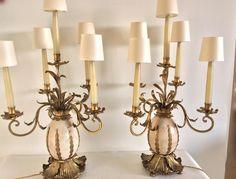 Paire de Candélabres montées en lampes, XXème vers 1950, style Jansen, ANTINA Market, Proantic