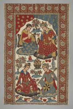 Hanging, Iran, 1880 - 1920, on view in Telling Stories at  Textile Museum of Canada, September 18, 2013 - September 1, 2014