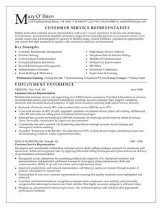 Good It Resume Examples Customer Service Resume Consists Of Main Points Such As Skills