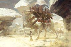 910x603_1319_Desert_Travel_2d_fantasy_travel_creature_picture_image_digital_art.jpg (910×603)