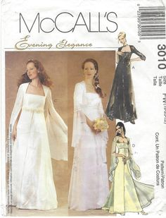 McCalls Sewing Pattern 3010 Womens Lined Bridal by CloesCloset