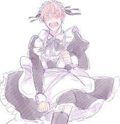 Maid Outfit Anime, Anime Maid, Hetalia Characters, Anime Characters, Cute Anime Boy, Anime Guys, Boca Anime, Image Manga, Illustrations