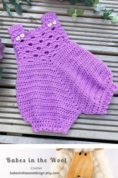 Crochet Pattern Baby Romper - Newborn to 24 months Crochet Romper, Baby Girl Crochet, Crochet Baby Clothes, Cute Crochet, Knit Crochet, Crochet Gifts, Baby Patterns, Crochet Patterns, Baby Romper Pattern