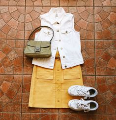 Found at Common Sort - Gap vest, Marc by Marc Jacobs skirt  + bag and Nike shoes