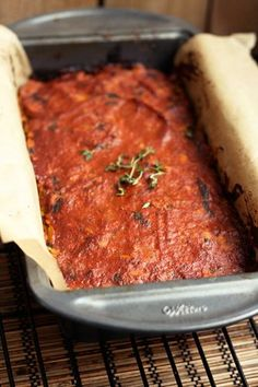 "Vegan Lentil ""meat"" loaf - looked at the ingredients and I think I would try this out on my unsuspecting family. :)"