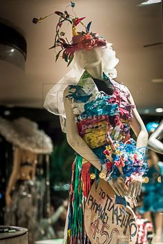 Recyclable Materials by Night 2015 Thessaloniki, Catwalk, Upcycle, Recycling, Children, Hats, Dresses, Design, Gowns