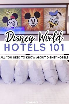 Disney World Resort Hotels - WDW Basics // With over 20 Disney World hotels in Orlando, choosing where you're going to sleep at night can be one of the most overwhelming steps while planning your Disney trip! Here are plenty of hotel reviews and tips to help you choose the perfect Orlando Disney World hotel for your family. Learn more about Best Disney World Hotels for Families of 4, Why You Should Stay at Disney World Hotels on Property, and more! // PIN THIS and TAP TO READ #disneyhotels