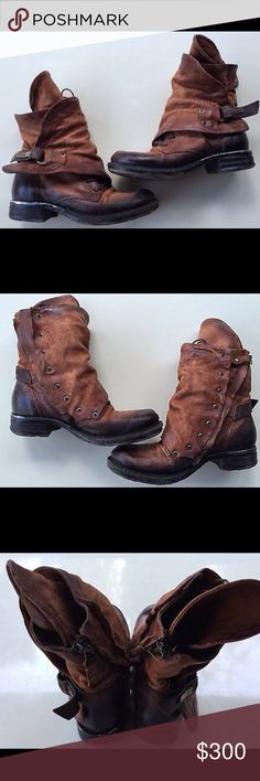A.S. 98 Emerson Ankle Boot 36 / 6 Bought through Free People, A.S. 98 Emerson Ankle boot in brown. Excellent pre owned condition. Size 36 / women's 6. Free People Shoes Combat & Moto Boots