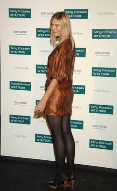Maria Sharapova in pantyhose