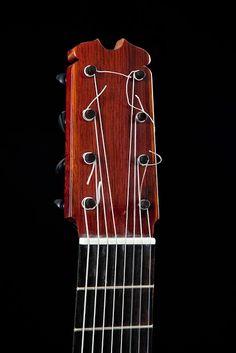 Guitarras custom construídas por Rodolfo Cucculelli, Luthier: Lutnicza Flamenco Blanca Gitara z przekrój Florent...