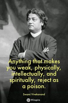 48 Famous Swami Vivekanand Quotes That Everyone Should Read - Winspira - - Trend Lightworker Quotes 2019 Wise Quotes, Motivational Quotes, Inspirational Quotes, Famous Quotes, Spiritual Awakening Quotes, Spiritual Guidance, Spiritual Life, Enlightenment Quotes, Spiritual Thoughts