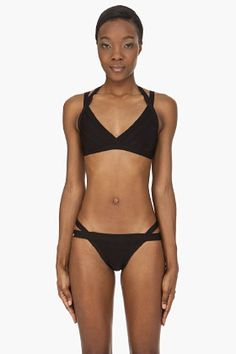 42d23fcb69 Black stretch bikini. From Herve Leger. The straps and details might well  be worth