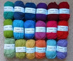 Gorgeous wool colours from the UK - Attic24