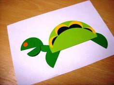 Origami z koła - żółwik