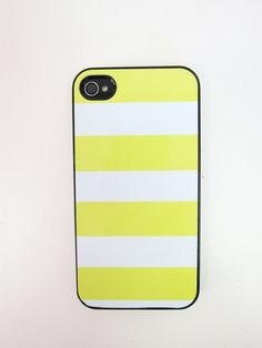 Striped iPhone Case - Yellow and White.