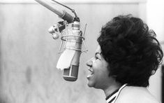 """Aretha Franklin's """"Respect"""" was actually a re-recording of a song by Otis Redding. It turns out Redding didn't care much for Franklin's reimagining, but eventually gave in. Aretha Franklin, Beatles Eleanor Rigby, Jean Giono, Dr Feelgood, Soul Singers, Atlantic Records, Soul Music, Music Music, Art Of Living"""